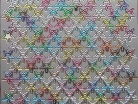 166- kleine ster multicolour 10x20cm