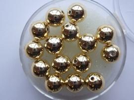 6069 762- 15 stuks waxparels van 8mm goud in een doosje - zeer mooie kwaliteit