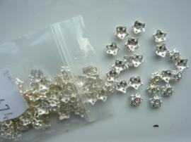 7mm zwaar metalen kralenkapjes 100 stuks staalkleur -CH.474.100- SUPERLAGE PRIJS!