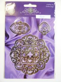 0002421- Joy Crafts stencil ornamenten 10x10cm - OPRUIMING