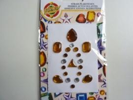 00263- zelfklevende strass steentjes (zijn ook los per stuk te gebruiken) OPRUIMING