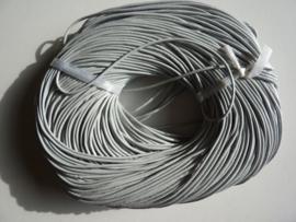 100 meter echt leren veter zilvergrijs van 2mm dik - AA kwaliteit - SUPERLAGE PRIJS!