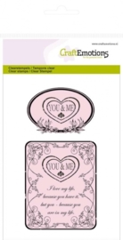 CE130501/1010- clearstamps A6 you & me botanical