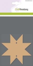 CE812301/0108- 3 stuks MDF basisvormen ster van 10x10cm