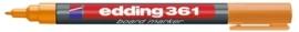 CE390361/0006- Edding-361 boardmarker met punt van 1mm oranje