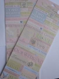 5757- K&Co embossed stickers trouwen OPRUIMING