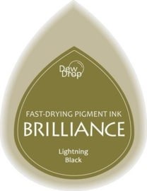 132019/1095- brilliance stempelkussen dew drops light black 3.5x5cm