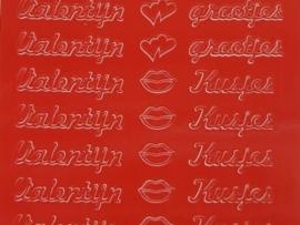 st541- valentijngroetjes rood 10x20cm