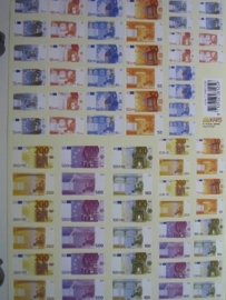 kn/355- A4 knipvel AANBIEDING eurobiljetten
