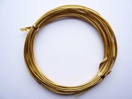 10 meter aluminiumdraad (Wire&Wire draad) van 1.5 mm dik goudkleur