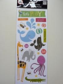 005621.B- big ideas stickers van 12.5x30cm met kinderfiguren OPRUIMING