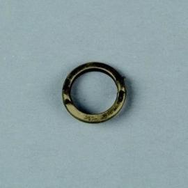 10 x metalen ringen met 2 ogen antiek geelbrons 117465/2609