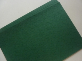 002012- 10 vellen luxe kaartkarton d.groen blokjesmotief A4-formaat 200grams OPRUIMING