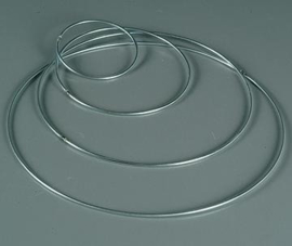 821200CH/0006 - Metalen dichte ring van 6 cm. doorsnee
