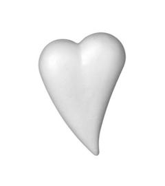 6768 675- 10 x styropor/piepschuim hart druppelvorm van 8x5cm