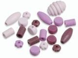 6023 424- 20 stuks houten kralen roze tinten mix