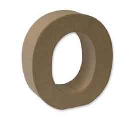 1929 3115- stevige decoratie letter van papier mache - 3D letter O