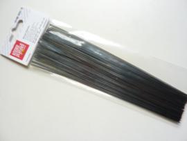 6478 204- 60 stuks bloemendraden van 20cm lang en 0.8mm dik antraciet