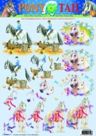 kn/1989- 3D knipvel A4 Studio light Pony Tail nr.4 - STAPPONY04
