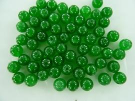 3945- ca. 60 stuks naturel malaysia Jade mineraal kralen van 6mm donker zeegroen - SUPERLAGE PRIJS!