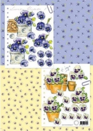 kn/1517- A4 knipvel Marianne D Shake it lovely violets - 117140/0496