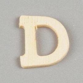 006887/1236- 2cm houten letter D