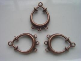 117465/1851 zwaar metalen verdeler van 1 naar 3 rijen