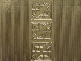 st 457HT- smalle rechte rand met hoekjes goud