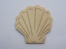 005999.J- houten ornament schelp van 2mm dik en ca. 6 tot 7cm breed -006888/2311