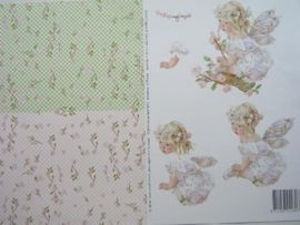 kn/577- A4 knipvel AANBIEDING fairy poppets 81/3 feestje