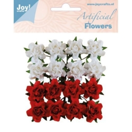 JOY6370/0067- 16 stuks artificial decoration flowers