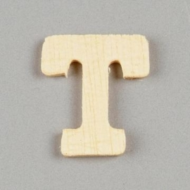 006887/1392- 2cm houten letter T