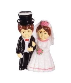 6930 220- 2 stuks bruidspaar decoratie bruid en bruidegom 2.4x2.5cm