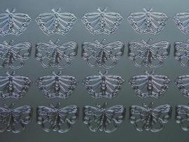 st 223- vlinders zilver 10x20cm
