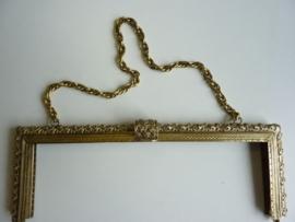 51- tasbeugel met ketting 26cm bronskleur