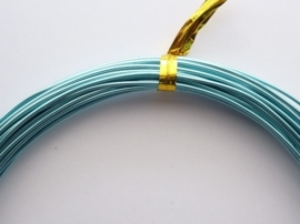 CH.10x24 - 10 meter aluminiumdraad (Wire&Wire draad) van 1mm licht turquoise