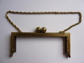 34 - tasbeugel met ketting 14cm bronskleur