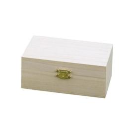 KN8735 729- houten kistje met sluiting 9x14x5.5cm