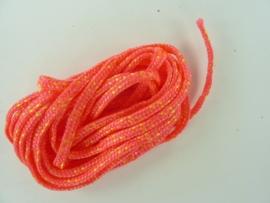 AZ.104- 3 meter para cord  4x2mm licht rood met geel OPRUIMING