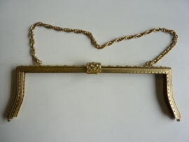 42 - tasbeugel met ketting 27cm bronskleur
