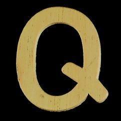 8735 624- 4cm houten letter Q