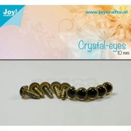 Joy6300/0602- 10 stuks kristal ogen 10mm beige