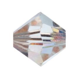 002207/802- 12 stuks swarovski kralen toupille crystal AB 6mm in een doosje OPRUIMING