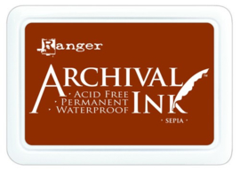 CE306010/1505- Ranger archival ink pad - sepia