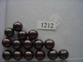 15 x glasparels 12mm koffie 12006/1212