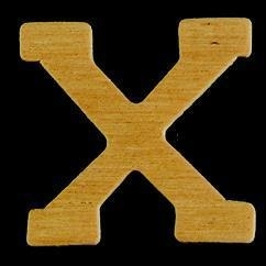 8735 631- 4cm houten letter X