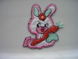 A332- strijk applicatie konijn ca. 6cm hoog AANBIEDING