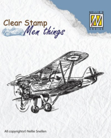 CE130510/2804- Nellie's Choice clearstamp - men things plane 70x45mm