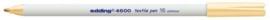 CE394600/0016- edding-4600 textielpen 1mm huidskleur