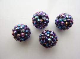 3987- 4 stuks strassballen 15mm oliezwart AB